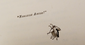 Baronet & Butterfly: Noble Abuse Whistler called it.